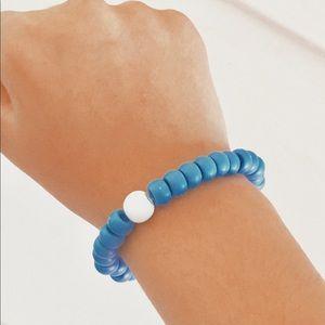 dark blue bracelet (with charm)